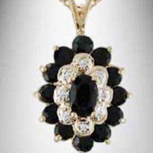 Jewelry - 4.17 CT Sapphire & Diamond Designer Necklace. NWOT